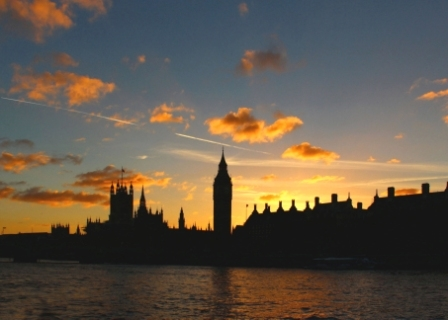 Houses Of Parliament Sunset, London
