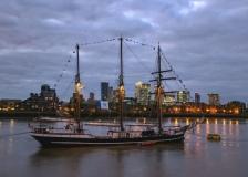 Tall Ship, Thames Path, Greenwich, London